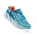 Blue Jewel / Neon Coral - HOKA ONE ONE - Women's Clifton 3