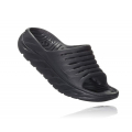 Black / Black - HOKA ONE ONE - Men's Ora Recovery Slide