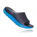 Ebony / Dresden Blue - HOKA ONE ONE - Men's Ora Recovery Slide