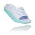 White / Blue Tint - HOKA ONE ONE - Women's Ora Recovery Slide