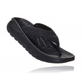 Black / Dark Gull Gray - HOKA ONE ONE - Men's Ora Recovery Flip