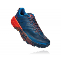 Majolica Blue / Mandarin Red - HOKA ONE ONE - Men's Speedgoat 4