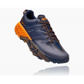 Black Iris / Bright Marigold - HOKA ONE ONE - Men's Speedgoat 4