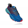 Imperial Blue / Pink Peacock - HOKA ONE ONE - Women's Speedgoat 4
