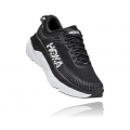 Black / White - HOKA ONE ONE - Women's Bondi 7 Wide