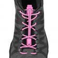 Pink - Nathan - Reflective Run Laces