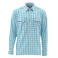 Sea Blue Plaid - Simms - Big Sky LS Shirt