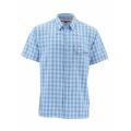 Harbor Blue Plaid - Simms - Big Sky SS Shirt