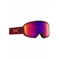 Frame: Ruby, Lens: SONAR Infrared Blue, Spare Lens: Amber - Burton - Women's Anon Deringer Goggle + Spare Lens