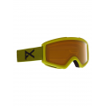 Frame: Green, Lens: PERCEIVE Sunny Bronze (17% / S3), Spare Lens: Amber (55% / S1) - Burton - Men's Anon Helix 2.0 Goggle PERCEIVE + Bonus Lens
