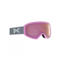 Frame: Gray Pop, Lens: PERCEIVE Cloudy Pink (53% / S1), Spare Lens: Amber (55% / S1) - Burton - Women's Anon Insight Goggle PERCEIVE + Bonus Lens