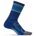 Navy/Hawaiian Blue Stripe - Feetures! - Elite Light Cushion Mini Crew