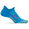 Hawaiian Blue/Electric Pink - Feetures! - Elite Max Cushion No Show Tab