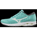 Blue Turquoise-White - Mizuno - Wave Rider Waveknit 3 Womens