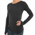 Heather Black - Free Fly Apparel - Women's Bamboo Midweight Long Sleeve