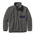 Nickel w/Navy Blue - Patagonia - Men's Synch Snap-T Pullover