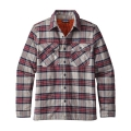 Migration Plaid: Drumfire Red - Patagonia - Men's Insulated Fjord Flannel Jacket