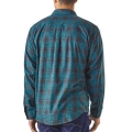 Inby Plaid Small: Smolder Blue - Patagonia - Men's L/S Pima Cotton Shirt