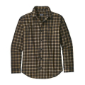 Lodge Pine: Black - Patagonia - Men's L/S Pima Cotton Shirt