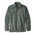 Salty Flats: Buffalo Green - Patagonia - Men's L/S Fjord Flannel Shirt