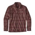 Salty Flats: Dark Ruby - Patagonia - Men's L/S Fjord Flannel Shirt