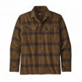 Burlwood: Owl Brown - Patagonia - Men's L/S Fjord Flannel Shirt
