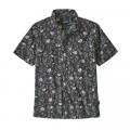 Fiber Flora Multi: Forge Grey - Patagonia - Men's Back Step Shirt