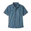 Swamp Stamp Multi: Pigeon Blue - Patagonia - Men's Back Step Shirt