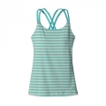 Vista Stripe: Howling Turquoise - Patagonia - Women's Cross Back Tank
