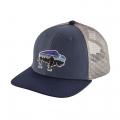 Fitz Roy Bison: Dolomite Blue - Patagonia - Kid's Trucker Hat
