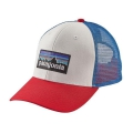 White w/Fire/Andes Blue - Patagonia - P-6 Logo Trucker Hat