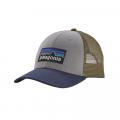 Drifter Grey w/Dolomite Blue - Patagonia - P-6 Logo LoPro Trucker Hat