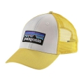 White w/Yoke Yellow - Patagonia - P-6 Logo LoPro Trucker Hat