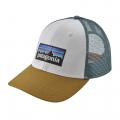White w/Kastanos Brown - Patagonia - P-6 Logo LoPro Trucker Hat