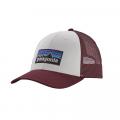 White w/Dark Ruby - Patagonia - P-6 Logo LoPro Trucker Hat
