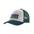 White w/Piki Green - Patagonia - P-6 Logo LoPro Trucker Hat