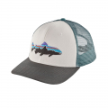 White w/Forge Grey - Patagonia - Fitz Roy Trout Trucker Hat