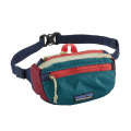Patchwork: Arrow Red w/Classic Navy - Patagonia - LW Travel Mini Hip Pack