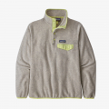 Oatmeal Heather w/Jellyfish Yellow - Patagonia - Women's LW Synch Snap-T P/O