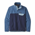 New Navy w/Woolly Blue - Patagonia - Women's Lightweight Synch Snap-T Pullover