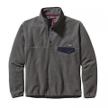 Nickel w/Navy Blue - Patagonia - Men's LW Synch Snap-T P/O
