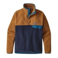 Navy Blue w/Bear Brown - Patagonia - Men's LW Synch Snap-T Pullover
