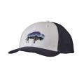 White w/Navy Blue - Patagonia - Fitz Roy Bison Trucker Hat