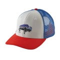 White w/French Red - Patagonia - Fitz Roy Bison Trucker Hat