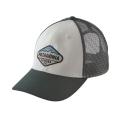 White w/Carbon - Patagonia - Fitz Roy Crest LoPro Trucker Hat