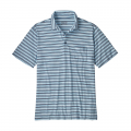 Visionary Stripe: Break Up Blue - Patagonia - Men's Squeaky Clean Polo