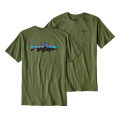 Buffalo Green - Patagonia - Men's Fitz Roy Trout Cotton T-Shirt