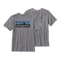 Gravel Heather - Patagonia - Men's P-6 Logo Cotton T-Shirt