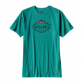 True Teal - Patagonia - Men's Fitz Roy Crest Cotton/Poly T-Shirt