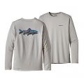 Painted Fitz Roy Trout: Tailored Grey - Patagonia - Men's Graphic Tech Fish Tee
